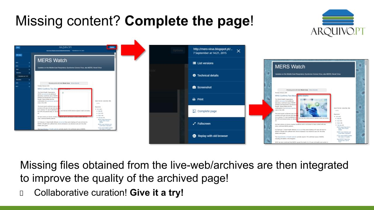 Complete the page - demo