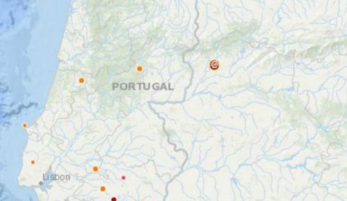 Mapa Portugal - Primeira página da Web Portuguesa