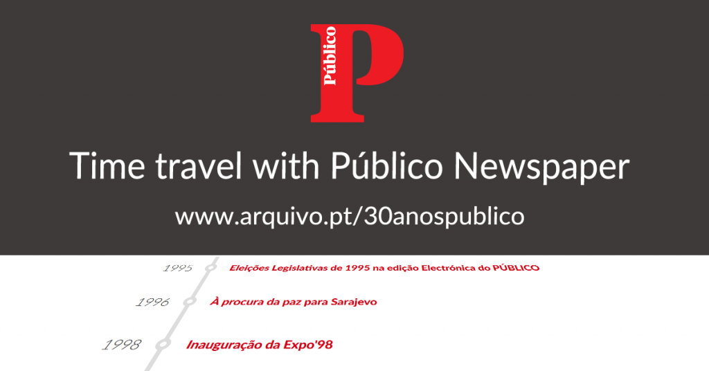 Time Travel of Público Newspaper - card