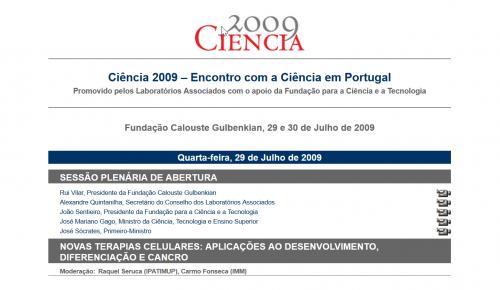 Ciência 2009 - Encontro com a Ciência em Portugal