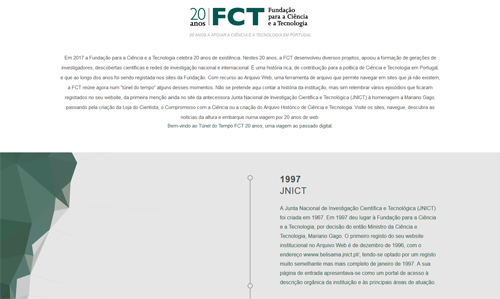 Time tunnel: FCT 20 years