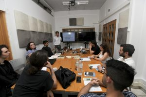 Meeting with invited researchers