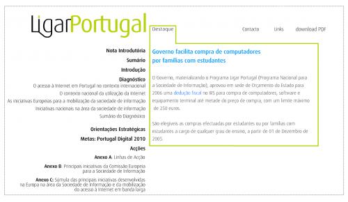 Ligar Portugal - Programa Nacional para a Sociedade de Informação
