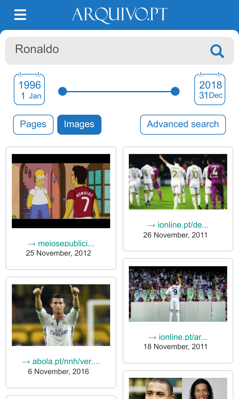Image search of Ronaldo
