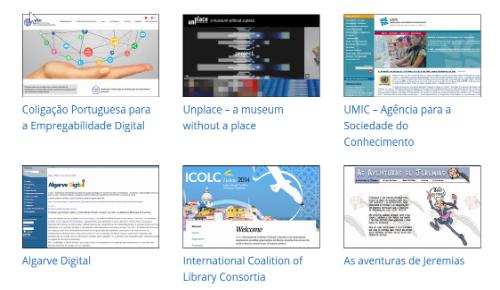 Memorial coleção especial de sites preservados pelo Arquivo.pt
