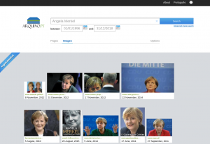 Image search arquivo.pt - search for Angela Merkel