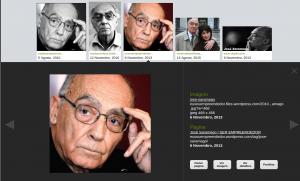 Visualizador pesquisa de imagens - exemplo imagem saramago