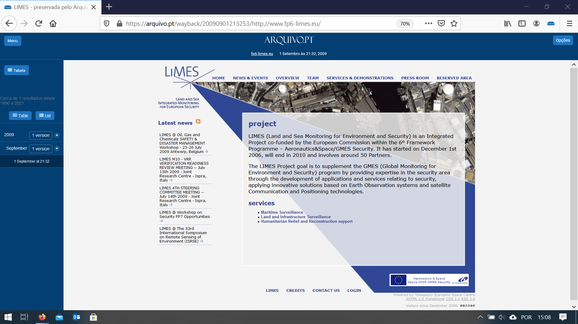 print homepage www.limes.fp6-limes.eu