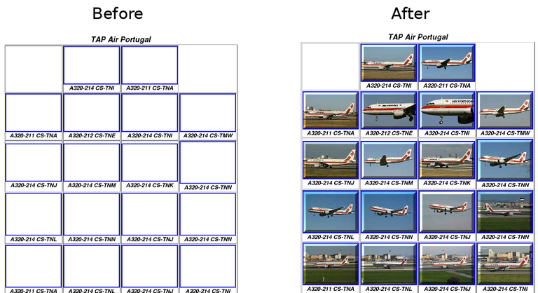 AeroPaixao website before and after improved replay